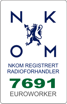 Nkom registrert radioforhandler nr. 7691