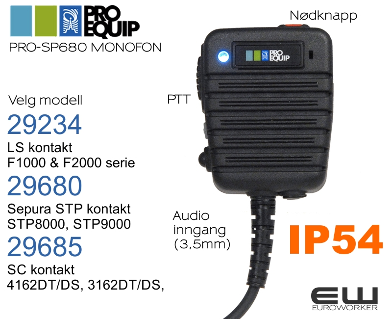 Icom IP67 Høyttalende Håndholdt Mikrofon HM 168LWP (F1000