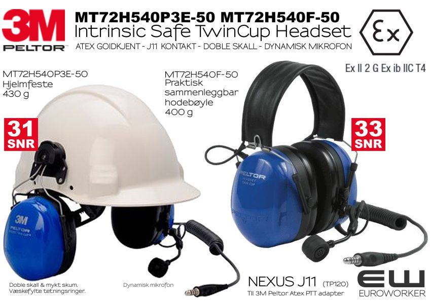 Best pris på 3M Peltor Twin Cup Headset Headband Hørselsvern