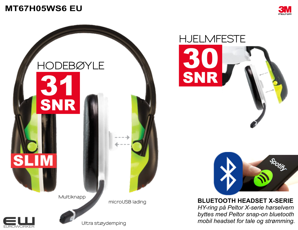 ba175f450 3M Peltor Bluetooth Headset X4 (Bluetooth, Mono)