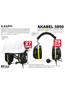 A-Kabel AK5850 Standard Headset  (J11, IS)
