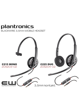 Plantronics Mobile Office Blackwire 215 (Mono) & 225 (Duo)