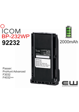 Icom Batteri BP-232WP (2000 mAh) ProHunt Advanced (92232)