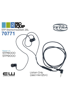70771 - ProEquip Stereoheadset 25L (iPhone type)