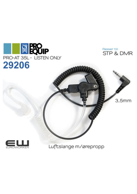 29206 - ProEquip PRO-AT 35L 3,5mm Airtube Headset (Listen Only) (STP & DMR)