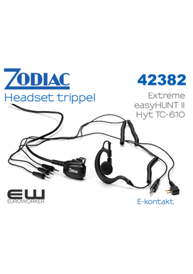 Zodiac Trippel C-shell Headset til Extreme (42382 )