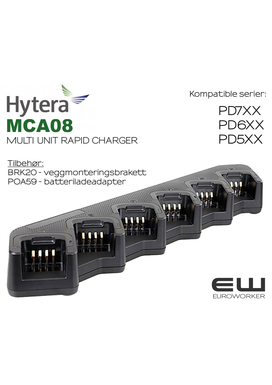 ​ Hytera MCA08 Multi Unit Rapid Charger til PD5-, PD6-, og PD7-serien