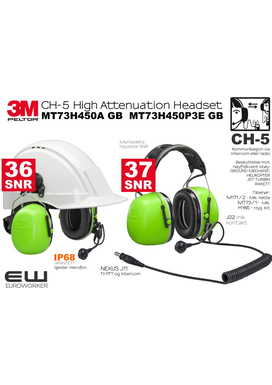 3M Peltor CH-5 High Attenuation Headset - Ground Mechanic MT73H450A GB  MT73H450P3E GB