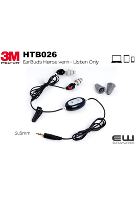 3M Peltor HTB026 EarBuds Hørselvern med 3,5mm audioinngang for Listen Only