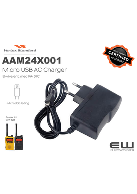 Vertex MicroUSB AC Charger til S24 (AAM24X001)