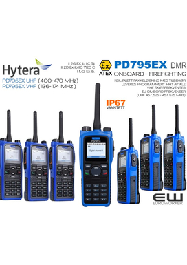 Hytera PD795EX (ATEX) (IP67) SHIP - ONBOARD - FIREFIGHTING