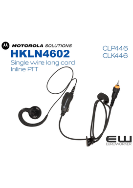 Motorola HKLN4602 Inline PTT earpiece for CLP & CLK