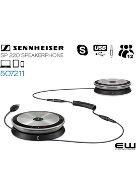 Sennheiser SP220 Dual Speakerphone System  (USB & 3,5mm)  (507211)