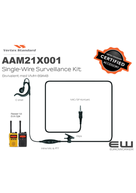 Vertex Earpiece Microphone Single-Wire Surveillance Kit (S24) (AAM21X001)
