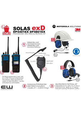 Motorola Atex Scrap Kampanje! SOLAS exD - DP4401Ex/DP4801Ex & PMMN4094 ANC RSM & IS Tactical XP Headset