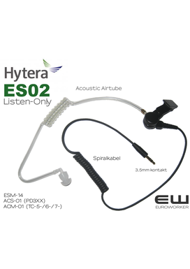 Hytera ES-02 Listen Only Earpiece 3,5mm til ACS-01 (PD365, PD355, PD375 mfl)