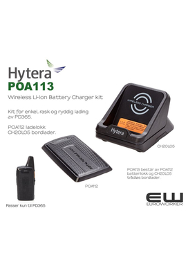 Hytera POA113 Wireless Li-ion Battery Charger kitr (PD365)