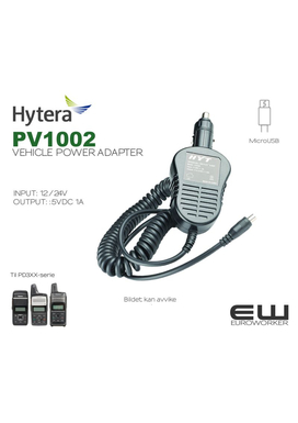 Hytera 12-24V Vehicle Charger (PD705, PD785, HYT TC-610)(CHV09) - 30646