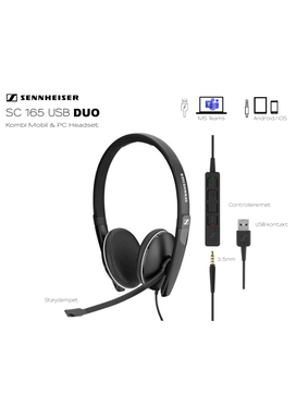 Sennheiser | EPOS SC165 DUO  (3,5mm, USB)