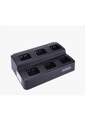 6-way smart charger for Kenwood Battery Charger 6-Way for Kenwood Professional Radios. Batteries Can Also Be Charged Separately from Radio. For Li-Ion Chemistry Batteries. Charges KNB-45L, KNB-63L and KNB-65L batteries. For table and wall-mount. (Wall-mount bracket built in.)