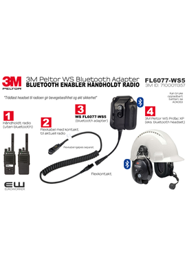 3M Peltor WS Bluetooth Adapter (Flexkontakt) FL6077-WS5   7100011357