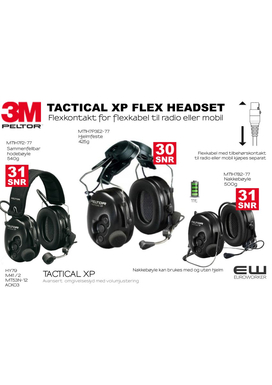 3m-peltor tactical xp flex headset -MT1H7B2-77 MT1H7P3E2-77 MT1H7F2-77