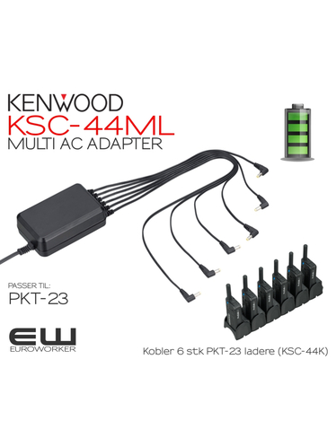 6 stk Kenwood PMR PKT23 med Gratis KSC-44ML Multicharger Adapter