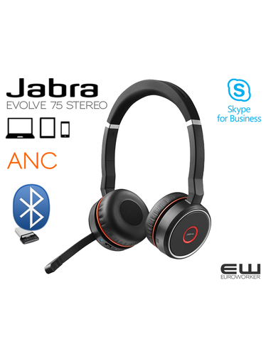 Jabra Evolve 75 STEREO Bluetooth MS & UC -  7599-832-109, 7599-832-199, 7599-832-199, 7599-838-199, 7599-838-109, 14207-40