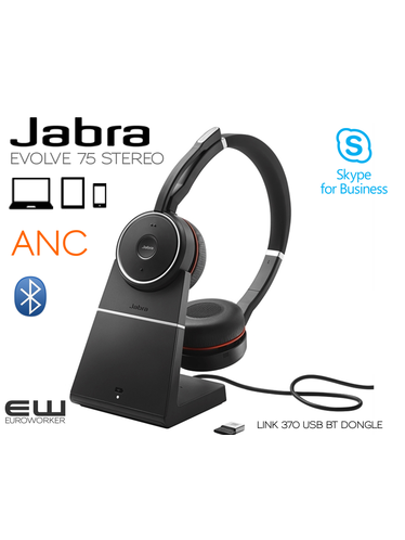 Jabra Evolve 75 STEREO Bluetooth MS Skype & UC