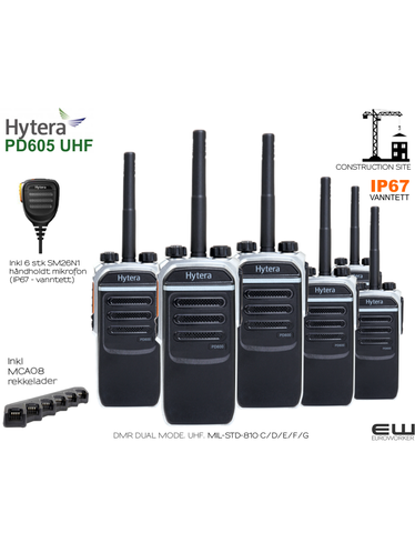 Hytera PD605 UHF Construction Site