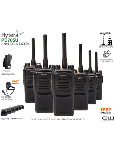 Hytera PD705 UHF Construction Site