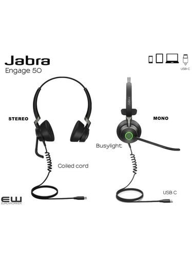 Jabra Engage 50 Duo (USB-C)
