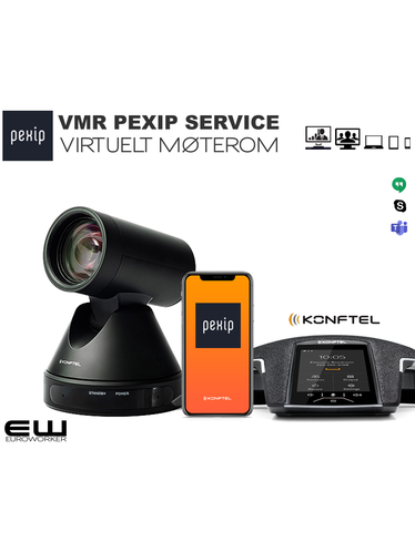 PEXIP Service - Virtuelt Møterom (VMR) med Konftel C50300 One Cable Connection