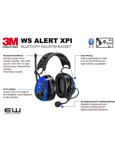 3M Peltor WS Alert XPI (Bluetooth & Mobile App)