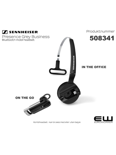 Sennheiser Presence Grey Bluetooth Headset