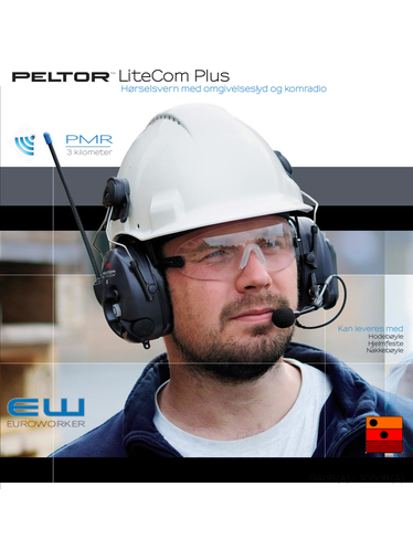 Peltor Litecom Plus - Hørselsvern & PMR radio