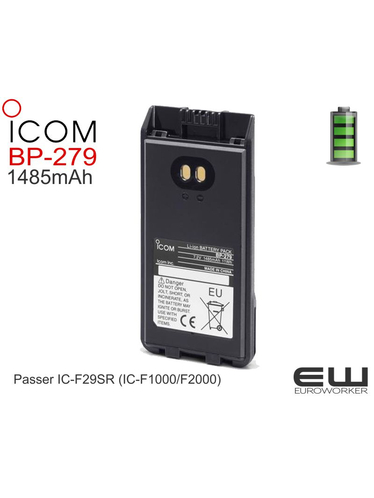 Li-Ion, 7.2V 1485 mAh battery pack (operating time 14 hours (approx.)